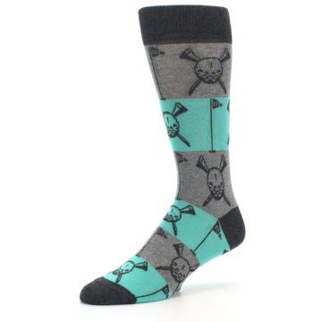 Image of Grey Teal Golf Men's Dress Socks (side-2-09)