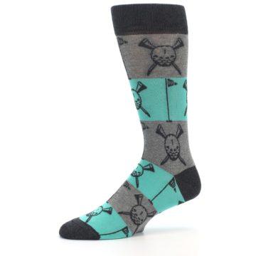 Image of Grey Teal Golf Men's Dress Socks (side-2-10)