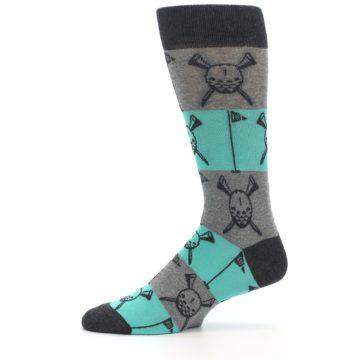 Image of Grey Teal Golf Men's Dress Socks (side-2-11)