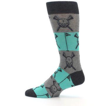 Image of Grey Teal Golf Men's Dress Socks (side-2-12)