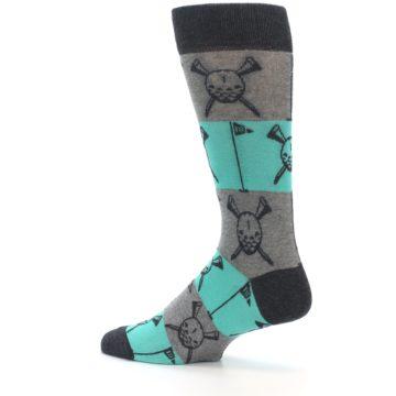 Image of Grey Teal Golf Men's Dress Socks (side-2-13)