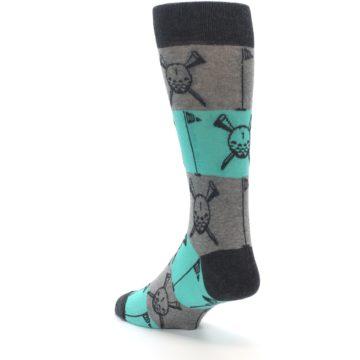 Image of Grey Teal Golf Men's Dress Socks (side-2-back-15)