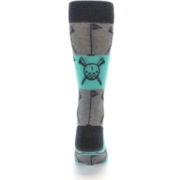 Image of Grey Teal Golf Men's Dress Socks (back-18)