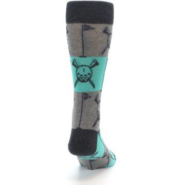 Image of Grey Teal Golf Men's Dress Socks (back-19)
