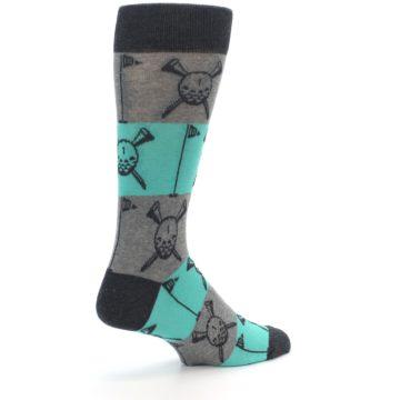 Image of Grey Teal Golf Men's Dress Socks (side-1-back-22)
