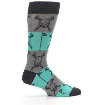 Image of Grey Teal Golf Men's Dress Socks (side-1-24)