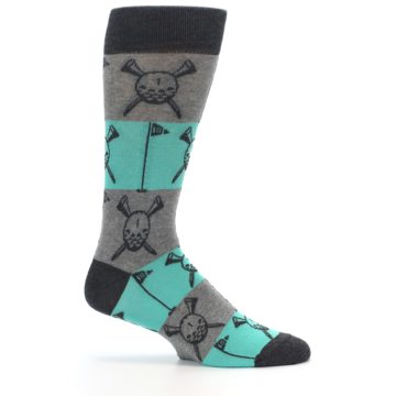 Image of Grey Teal Golf Men's Dress Socks (side-1-25)