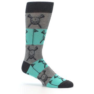 Image of Grey Teal Golf Men's Dress Socks (side-1-26)