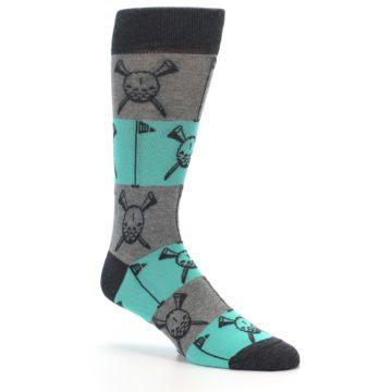 Image of Grey Teal Golf Men's Dress Socks (side-1-27)