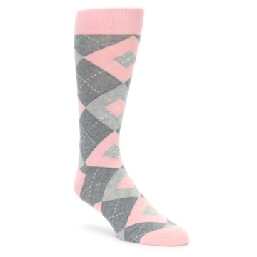 Blossom Pink Argyle Wedding Socks