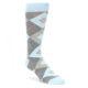 Image of Capri Blue Gray Argyle Men's Dress Socks (side-1-front-01)