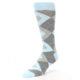 Image of Capri Blue Gray Argyle Men's Dress Socks (side-2-front-08)