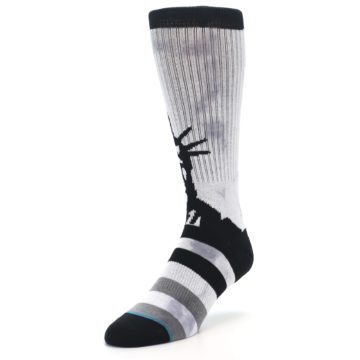 Image of Black Grey Lady Liberty Men's Casual Socks (side-2-front-08)