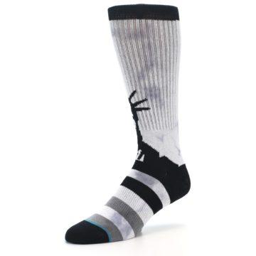Image of Black Grey Lady Liberty Men's Casual Socks (side-2-09)