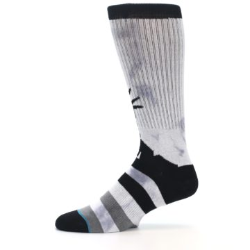 Image of Black Grey Lady Liberty Men's Casual Socks (side-2-11)