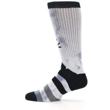 Image of Black Grey Lady Liberty Men's Casual Socks (side-2-12)