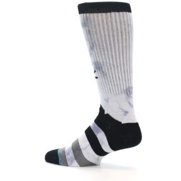 Image of Black Grey Lady Liberty Men's Casual Socks (side-2-13)