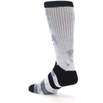 Image of Black Grey Lady Liberty Men's Casual Socks (side-2-back-14)
