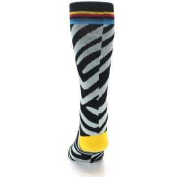 Image of Black Stripe Pattern Men's Casual Socks (back-17)