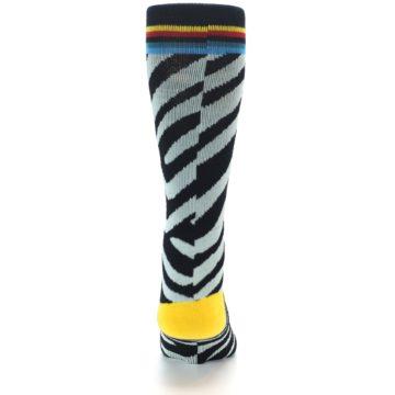 Image of Black Stripe Pattern Men's Casual Socks (back-18)