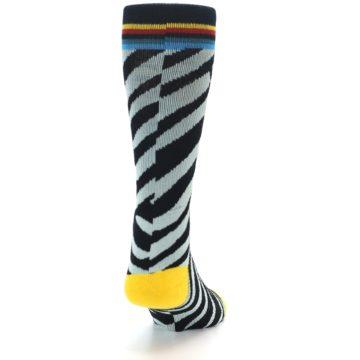 Image of Black Stripe Pattern Men's Casual Socks (back-19)
