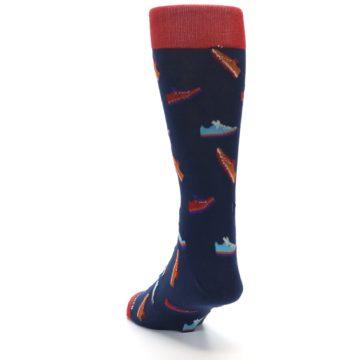 Image of Navy Multi Shoes Men's Dress Socks (side-2-back-16)