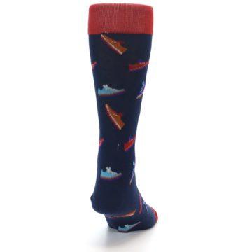 Image of Navy Multi Shoes Men's Dress Socks (back-19)