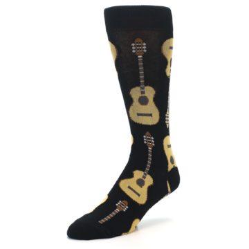 Image of Black Acoustic Guitars Men's Dress Socks (side-2-front-08)