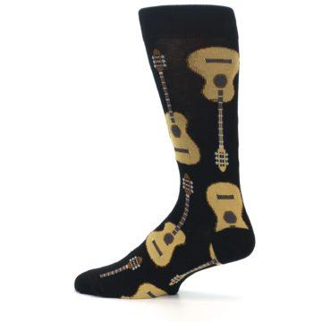 Image of Black Acoustic Guitars Men's Dress Socks (side-2-12)