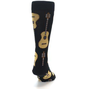 Image of Black Acoustic Guitars Men's Dress Socks (back-19)