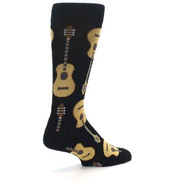 Image of Black Acoustic Guitars Men's Dress Socks (side-1-back-22)
