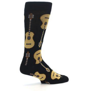 Image of Black Acoustic Guitars Men's Dress Socks (side-1-23)