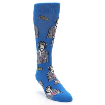 Image of Blue Monkey Business Men's Dress Socks (side-1-front-03)