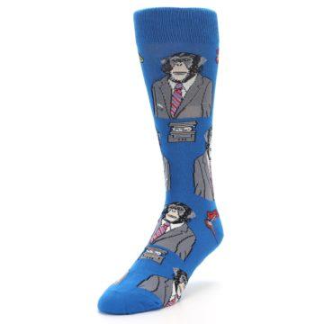 Image of Blue Monkey Business Men's Dress Socks (side-2-front-08)