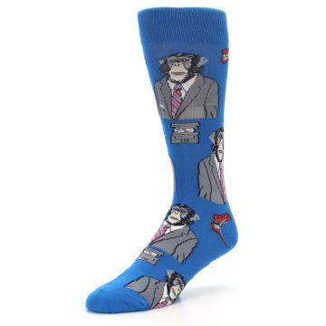 Image of Blue Monkey Business Men's Dress Socks (side-2-09)