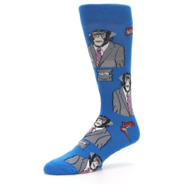 Image of Blue Monkey Business Men's Dress Socks (side-2-10)