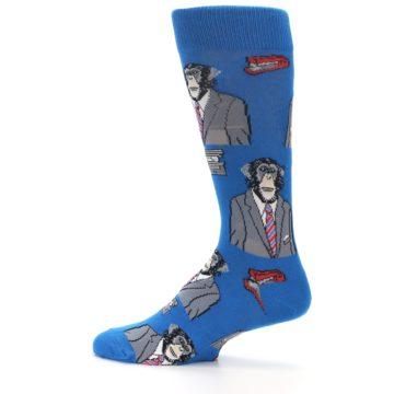 Image of Blue Monkey Business Men's Dress Socks (side-2-13)