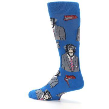 Image of Blue Monkey Business Men's Dress Socks (side-2-back-14)