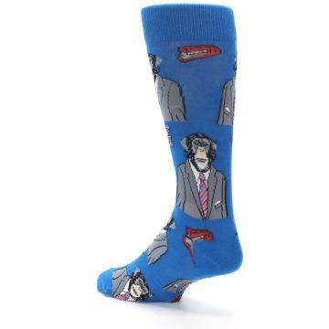 Image of Blue Monkey Business Men's Dress Socks (side-2-back-15)