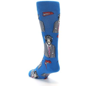 Image of Blue Monkey Business Men's Dress Socks (side-2-back-16)
