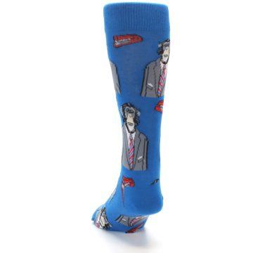 Image of Blue Monkey Business Men's Dress Socks (back-17)