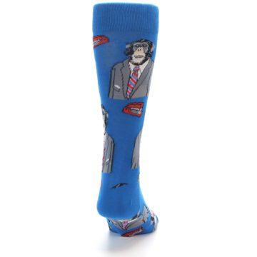 Image of Blue Monkey Business Men's Dress Socks (back-19)