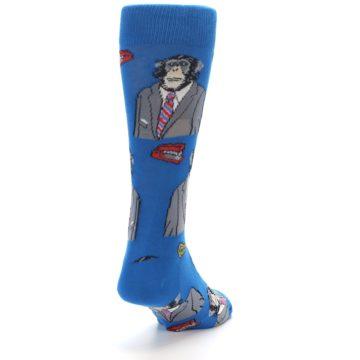 Image of Blue Monkey Business Men's Dress Socks (side-1-back-20)