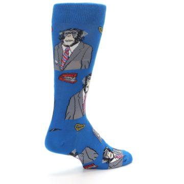Image of Blue Monkey Business Men's Dress Socks (side-1-back-22)