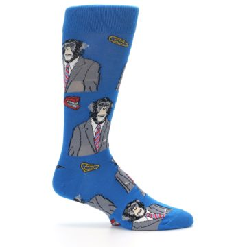Image of Blue Monkey Business Men's Dress Socks (side-1-25)