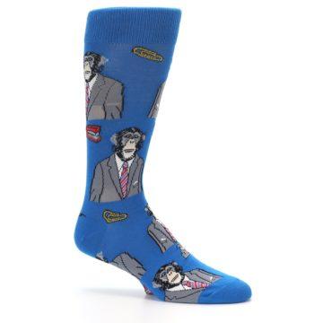 Image of Blue Monkey Business Men's Dress Socks (side-1-26)