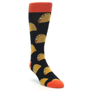 Image of Black Tacos XL Men's Dress Socks (side-1-front-02)