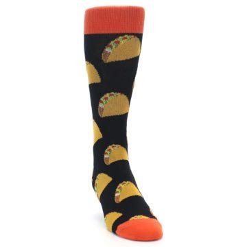 Image of Black Tacos XL Men's Dress Socks (side-1-front-03)