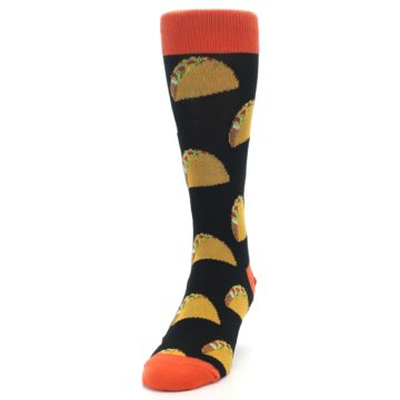 Image of Black Tacos XL Men's Dress Socks (side-2-front-06)