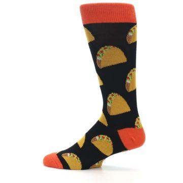 Image of Black Tacos XL Men's Dress Socks (side-2-12)